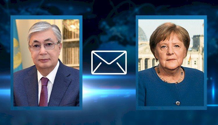 Президент Қасым-Жомарт Тоқаев Германияның Федералдық Канцлері Ангела Меркельге көңіл айту жеделхатын жолдады