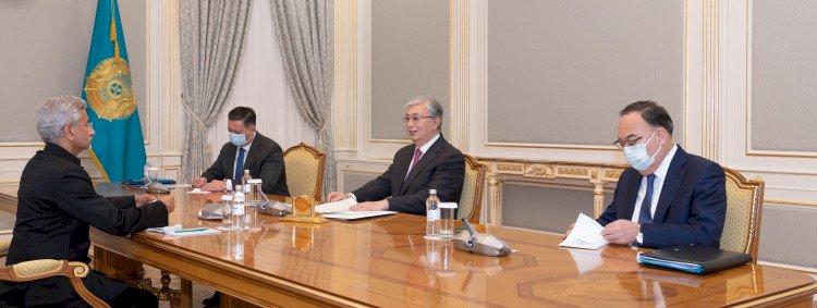 Президент Қасым-Жомарт Тоқаев Үндістанның Сыртқы істер министрін қабылдады